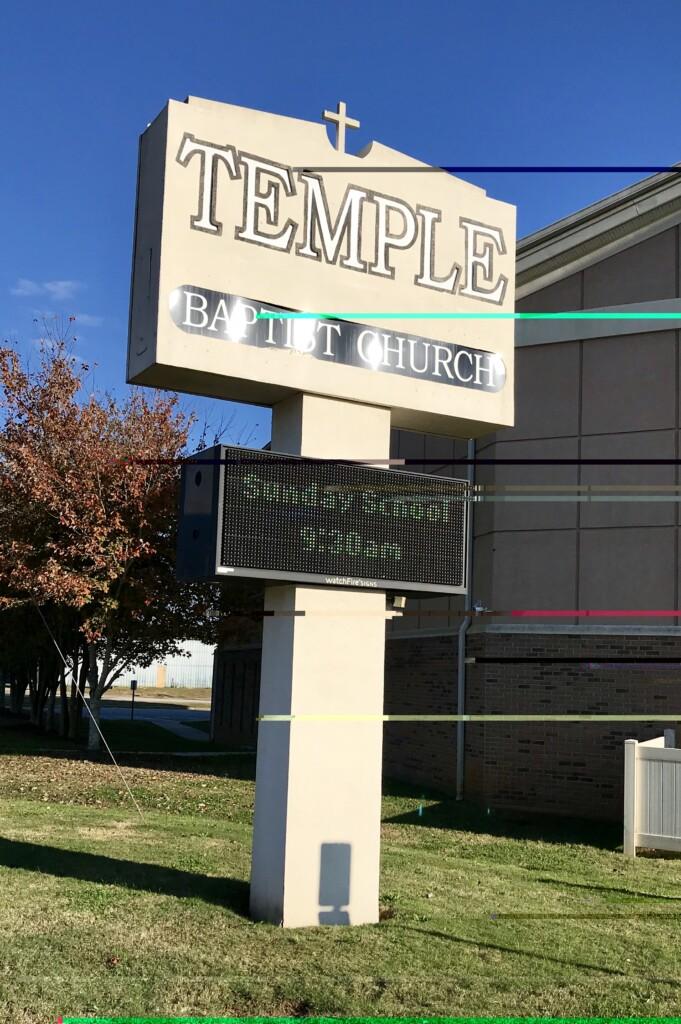 Temple Baptist, Anderson, SC - Al Hughes Ministries